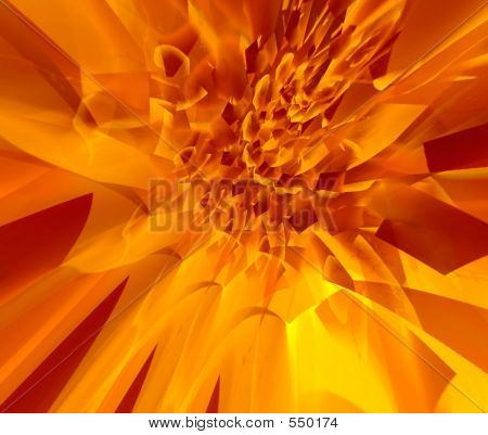fire flower. abstraction background poster