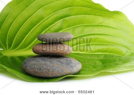 Spa still life with maple leafs on bamboo small rug poster