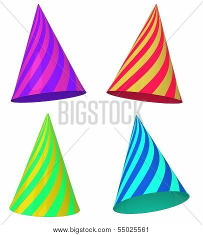 Festive caps, 3d