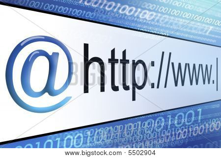 Graphic Of Abstract Address Bar
