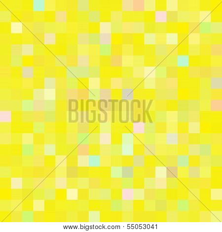 Colorful geometric pixel pattern - seamless background poster