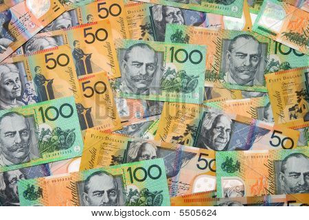 Australian Currency Isolated On White