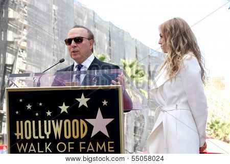 LOS ANGELES - DEC 5:  Tommy Mottola, Thalia at the Thalia Hollywood Walk of Fame Star Ceremony at W Hollywood Hotel on December 5, 2013 in Los Angeles, CA