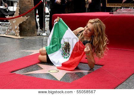 LOS ANGELES - DEC 5:  Thalia, aka Ariadna Thalia Sodi Miranda at the Thalia Hollywood Walk of Fame Star Ceremony at W Hollywood Hotel on December 5, 2013 in Los Angeles, CA