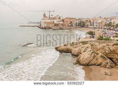 Beaches In Sitges, Spain