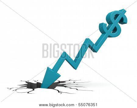 Blue dollar down to ground