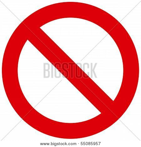 Prohibited sign isolated on white background - vector illustration poster