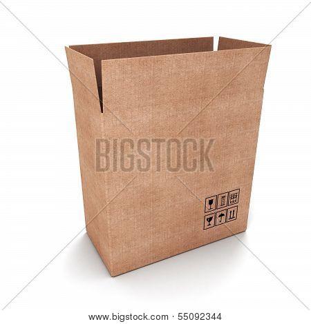 Open Cardoard Box