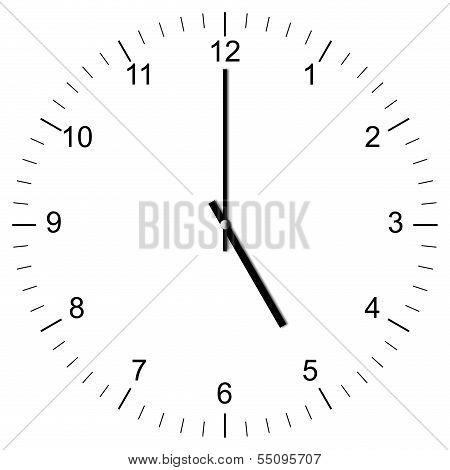 Clock Illustration 5:00
