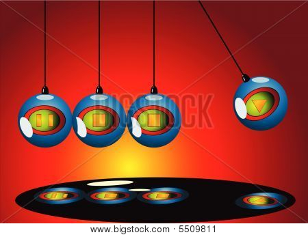 Newton Pendulum mobile