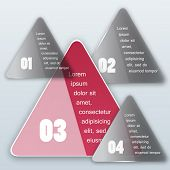 Vector triangle background. Color object and infographics poster