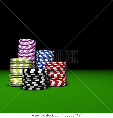 Poker Casino Chips Stacks