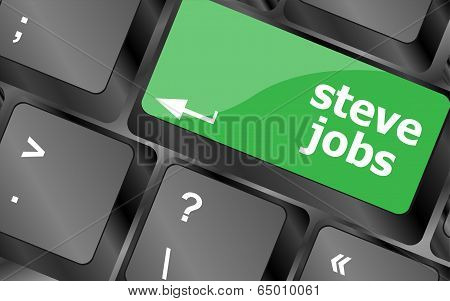 Steve Jobs Button On Keyboard - Life Concept