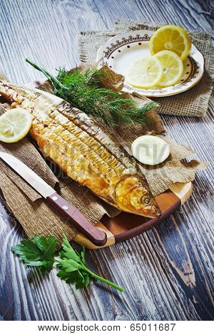 Smoked Fish With Lemon, Dill And Parsley