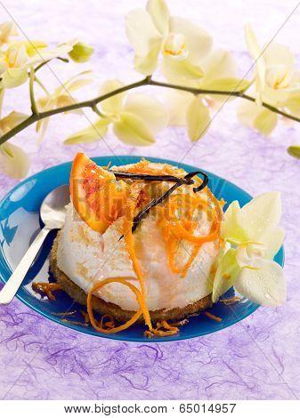 dessert ricotta with orange and vanilla poster