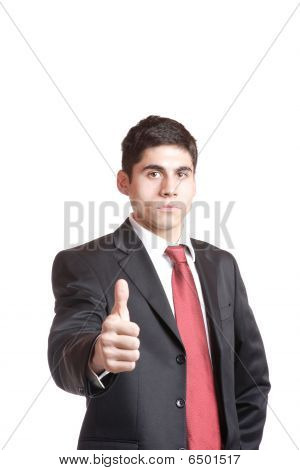 Portrait Of A Business Man Holding Money