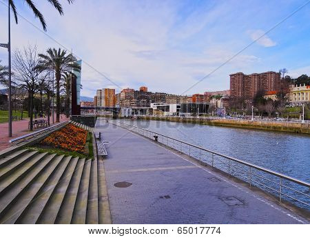 Nervion River In Bilbao