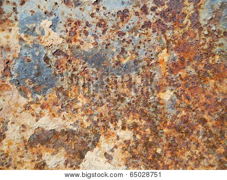 Texture Grungy Rusty Metal Close Up