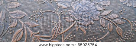 Texture Embossed Rose Banner