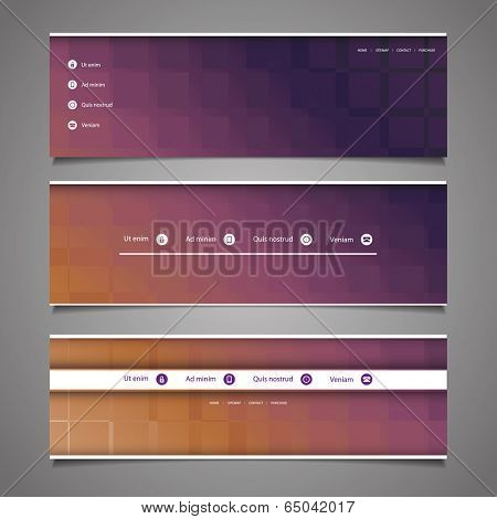 Web Design Elements - Abstract Header Design
