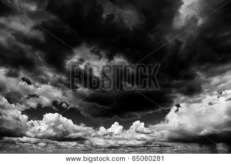 Apocaliptic stormy sky background