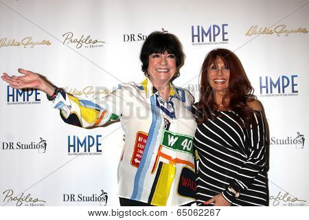 LOS ANGELES - MAY 14:  Jo Anne Worley, Barbara Luna at the