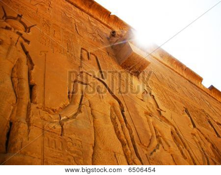 Hathor Temple at Dendera - detail