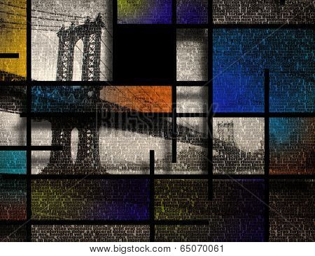Modern Art Inspired Landscape NYC poster