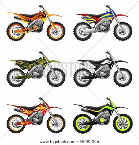 Sport motorcycles set