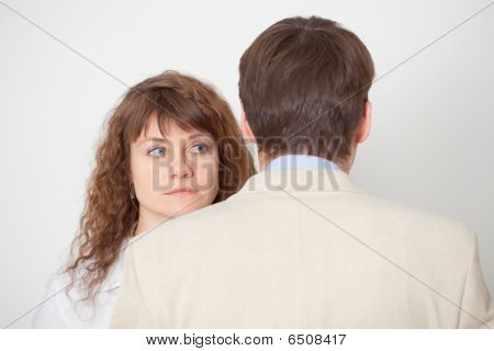 Man And Woman Stand Nearby In Pressure