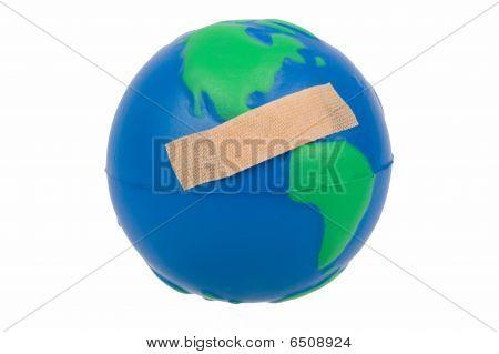 Globe With Plaster