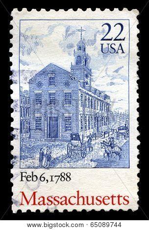 Massachusetts Us Postage Stamp