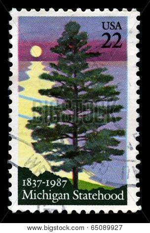 Michigan Us Postage Stamp
