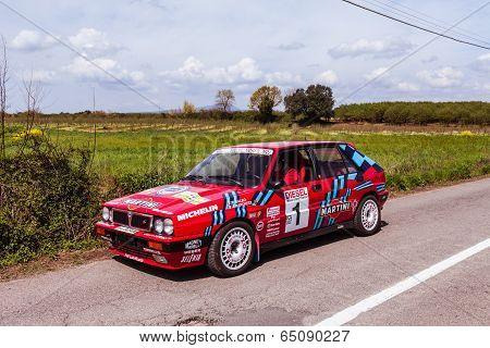 Lancia Delta Vintage Rally Car