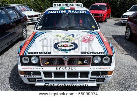 White Lancia Delta Hf Integral Martini Racing