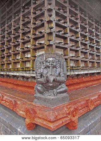 Perspective Of Shri Krishna Temple, Alleppy, Kerala, India