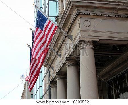 a few american flags