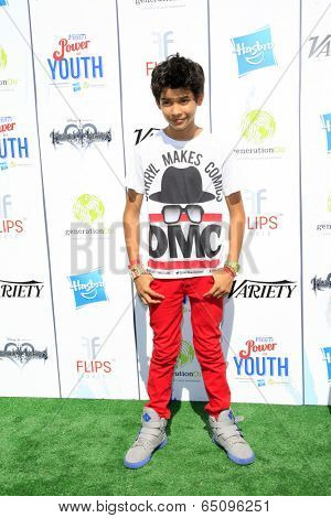 LOS ANGELES - JUL 27:  Xolo Mariduena at the Variety's Power of Youth  at Universal Studios Backlot on July 27, 2013 in Los Angeles, CA