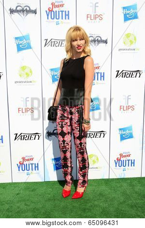 LOS ANGELES - JUL 27:  Claudia Lee at the Variety's Power of Youth  at Universal Studios Backlot on July 27, 2013 in Los Angeles, CA