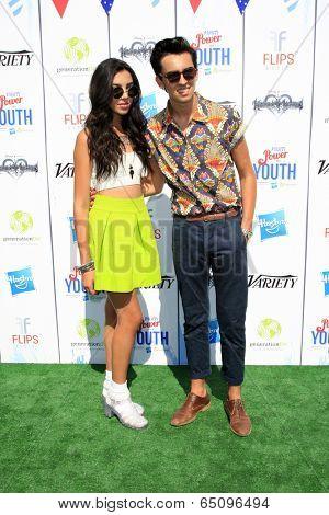 LOS ANGELES - JUL 27:  Savannah Hudson, Brandon Hudson at the Variety's Power of Youth  at Universal Studios Backlot on July 27, 2013 in Los Angeles, CA