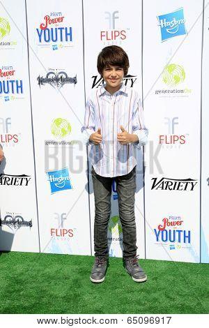 LOS ANGELES - JUL 27:  Joshua Rush at the Variety's Power of Youth  at Universal Studios Backlot on July 27, 2013 in Los Angeles, CA