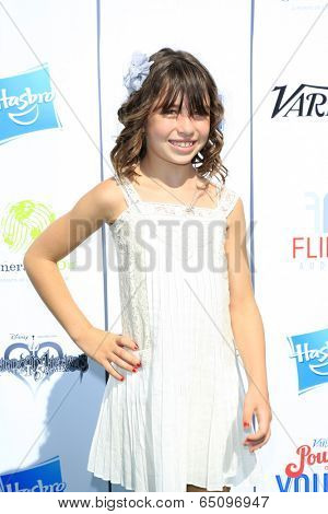 LOS ANGELES - JUL 27:  Savannah Paige Rae at the Variety's Power of Youth  at Universal Studios Backlot on July 27, 2013 in Los Angeles, CA