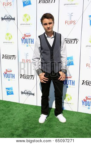 LOS ANGELES - JUL 27:  Gattlin Griffith at the Variety's Power of Youth  at Universal Studios Backlot on July 27, 2013 in Los Angeles, CA