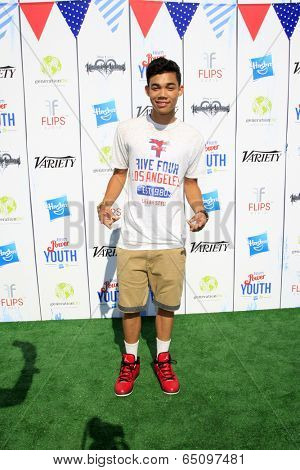 LOS ANGELES - JUL 27:  Roshon Fegan at the Variety's Power of Youth  at Universal Studios Backlot on July 27, 2013 in Los Angeles, CA