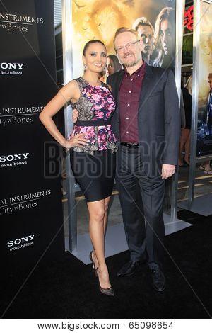 LOS ANGELES - AUG 12:  Allegra Riggio, Jared Harris at the