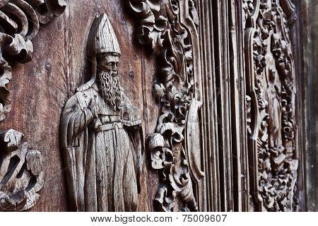 san agustin church door detail