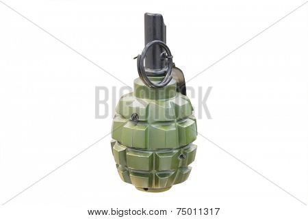 Hand Grenade Isolated under the white background