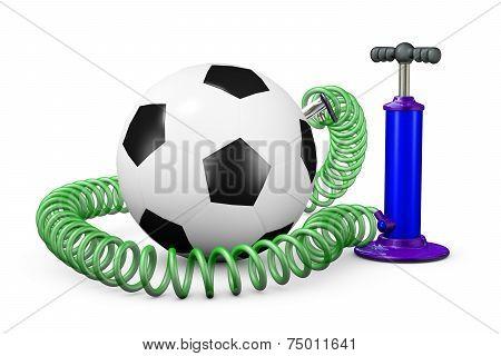 Pump Pumps Up Air In A Ball