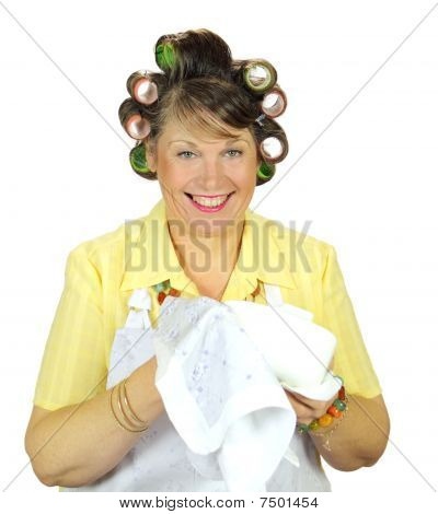 Wiping Up Housewife
