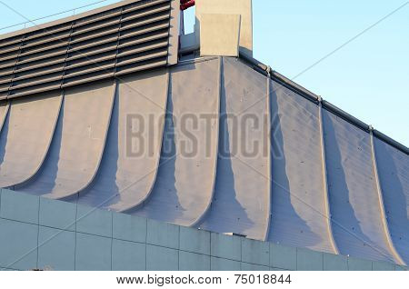 Curve roof of Yoyogi National Gymnasium in Tokyo Japan poster